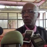 Lors de la comparution de Pierre Claver Mbonimpa