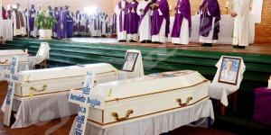 Mercredi, 10 septembre 2014 – Sanctuaire marial de Mont Sion à Gikungu. Messe de requiem des 3 sœurs italiennes sauvagement assassinées à la paroisse de Kamenge ©A.K/Iwacu