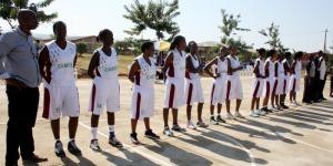 Les basketteuses de Gazelles avant la finale du  championat national précédent  ©Iwacu