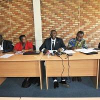 Des représentants de la société civile lors de la conférence de presse  ce vendredi  ©Iwacu