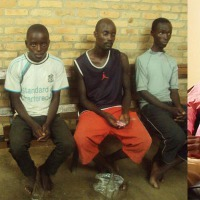 Les cinq  jeunes burundais, arrêtés près de la rivière Rusizi  ©Iwacu