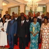Les membres du gouvernement de transition