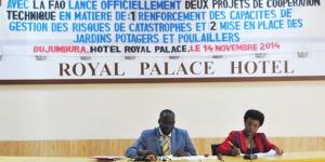 La ministre de l'Agriculture et de l'Elevage avec le représentant de la Fao au Burundi, lors du lancement officiel des projets pour la prévention de la malnutrition ©Iwacu