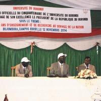 : Lors de l'ouverture officielle du cinquantenaire de l'Université du Burundi ©Iwacu