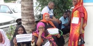 Sit-in devant le HCR ©Iwacu