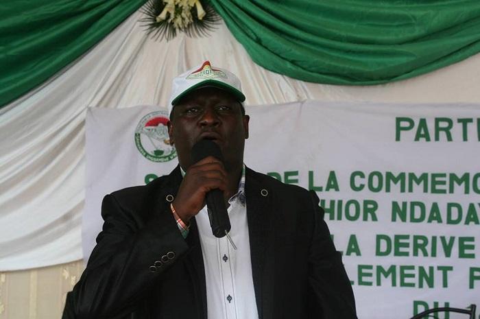 Patrick Nkurunziza choisi dernièrement à Kampala pour être chef de file des jeunes de l'ADC-Ikibiri ©Iwacu