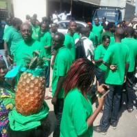 Rassemblement devant la RPA