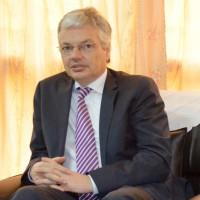Le vice-premier ministre et ministre des Affaires Etrangères belge, M. Didier Reynders