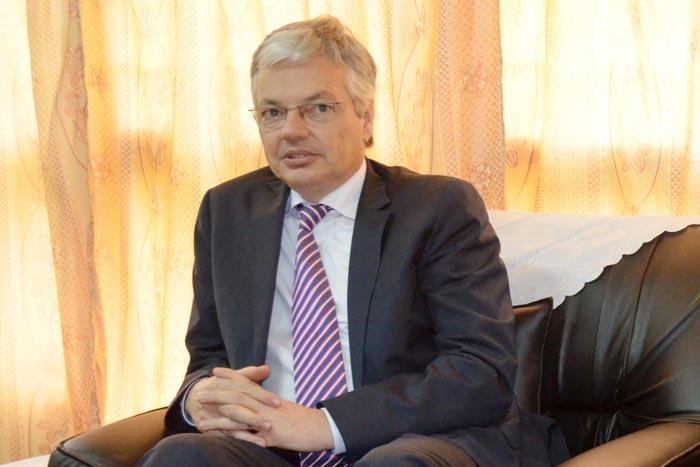 Le vice-premier ministre et ministre des Affaires Etrangères belge, M. Didier Reynders ©Iwacu