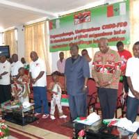 Prière lors d'un congrès du parti présidentiel ©Iwacu