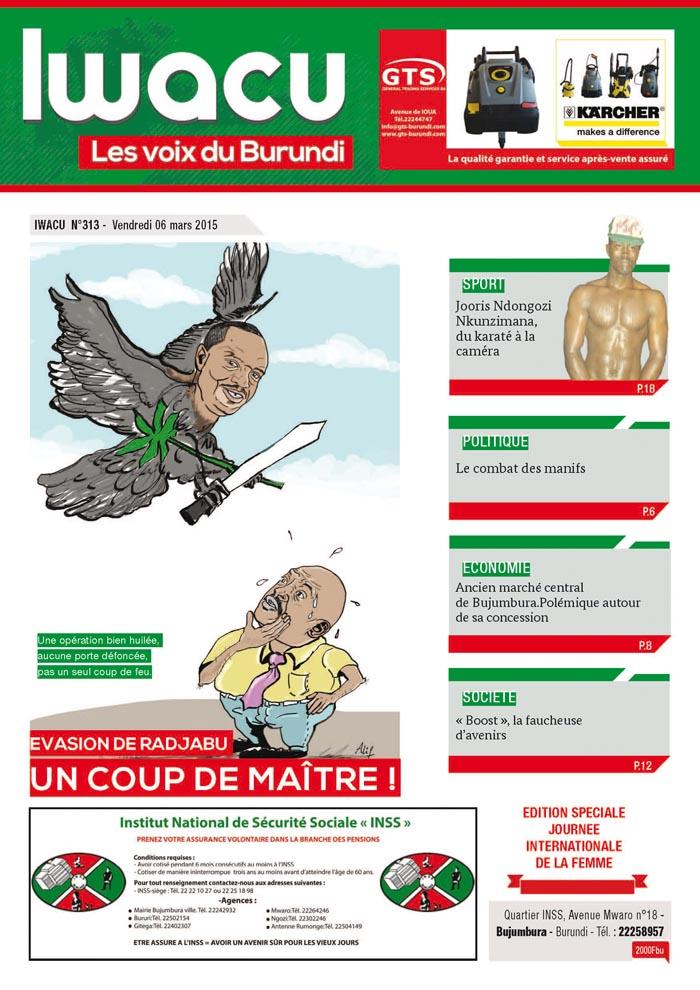 IWACU Hebdomadaire n°313
