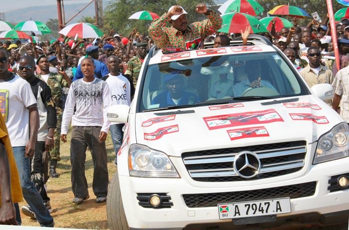 Pierre Nkurunziza en campagne électorale de 2010 ©Iwacu