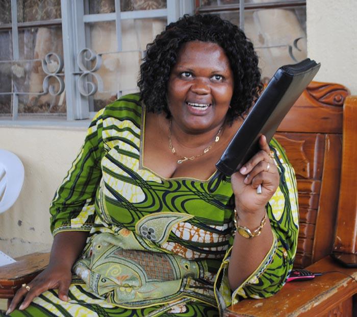 Odette Nsingirankabo : « La sainte Bible est ma seule arme.» ©Iwacu