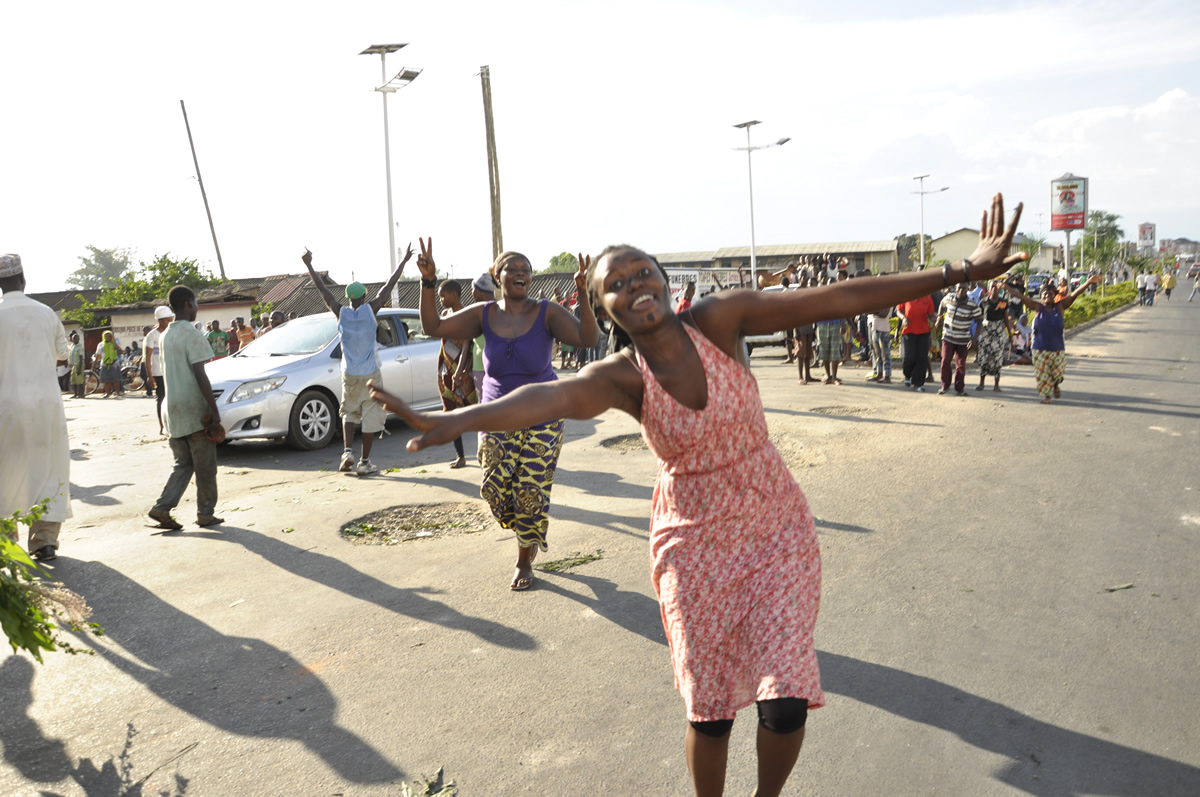 La joie  dans les rues de Bujumbura cet après-midi.