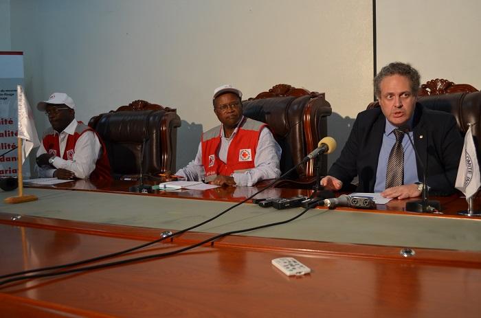 Lors la déclaration conjointe CICR-Croix-Rouge du Burundi ce 8 mai par le chef de délégation du CICR au Burundi