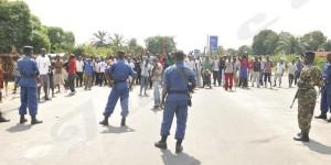 La police et l'armée empêchent les manifestant de Ngagara de Continuer