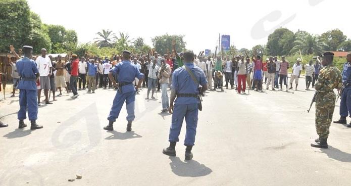 Les manifs concentrées à Ngagara, Mutakura, Cibitoke et Butere