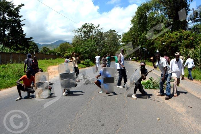 Manifestants venus de Musaga