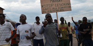 Nyakabiga : 1er rassemblement des manifestations