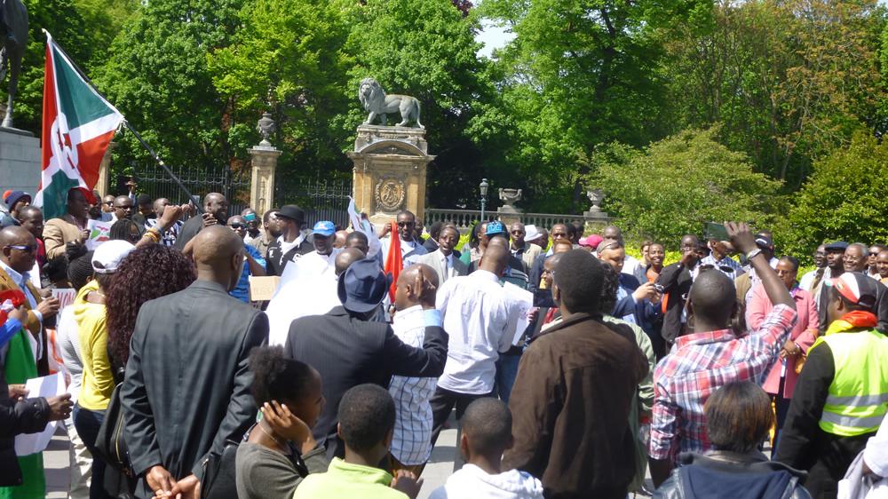 Manifestation de la diaspora burundaise à Bruxelles