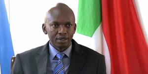 Alain-Aimé Nyamitwe, ministre burundais des Relations Extérieures, lors d'une interview à la chaîne SNBC