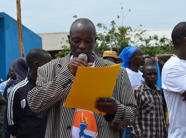 Déo Gasamagera lors du congrès du MSD à Ngozi le 11 janvier 2015