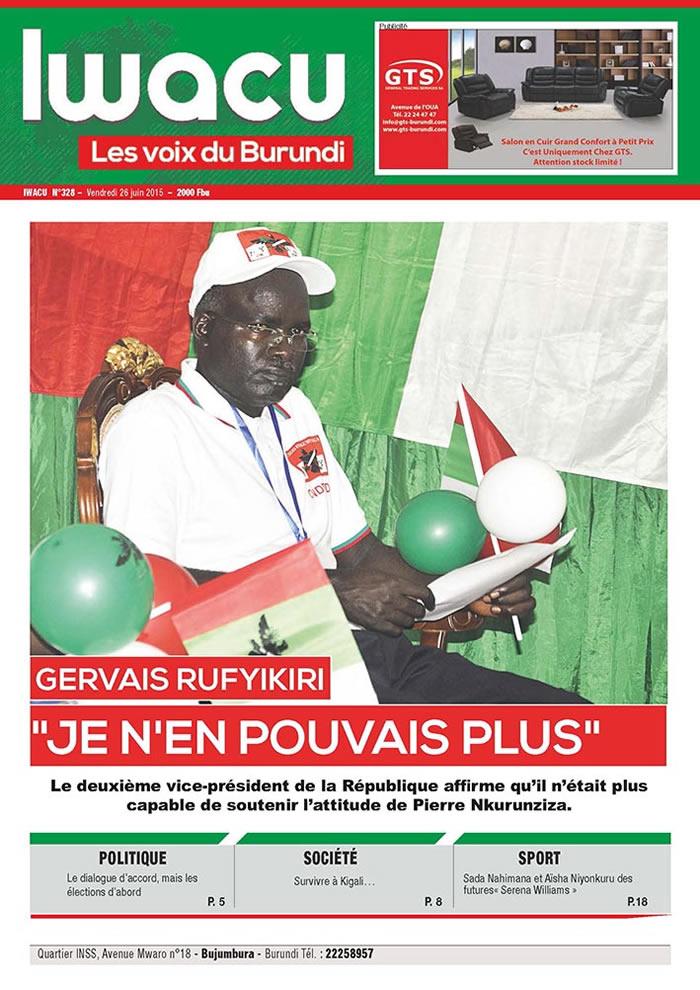 IWACU Hebdomadaire n°328