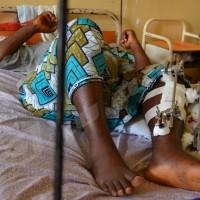 Une des victimes alitée l' hôpital Roi Khaled