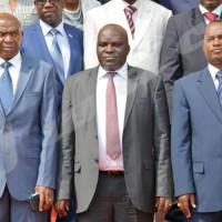 le nouveau bureau. (De gauche à droite : Agathon Rwasa, Pascal Nyabenda, Edouard Nduwimana).