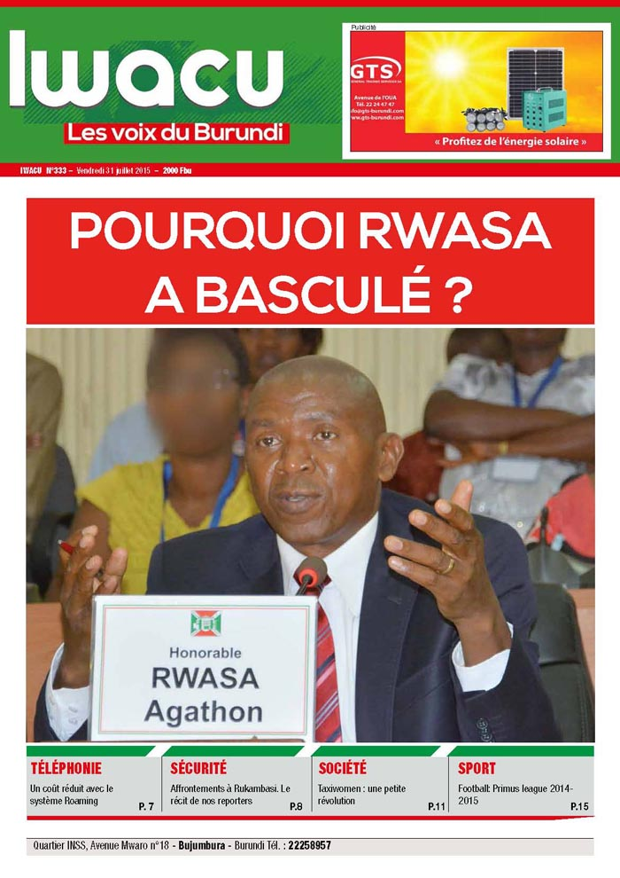 IWACU Hebdomadaire n°333