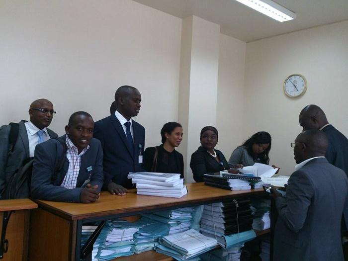 Ceux qui sont allés déposer la plainte contre la candidature de Nkurunziza à la Cour de l'EAC
