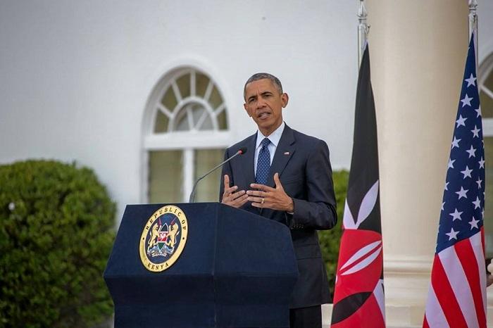 Le président des États-Unis d'Amérique, Barack Obama