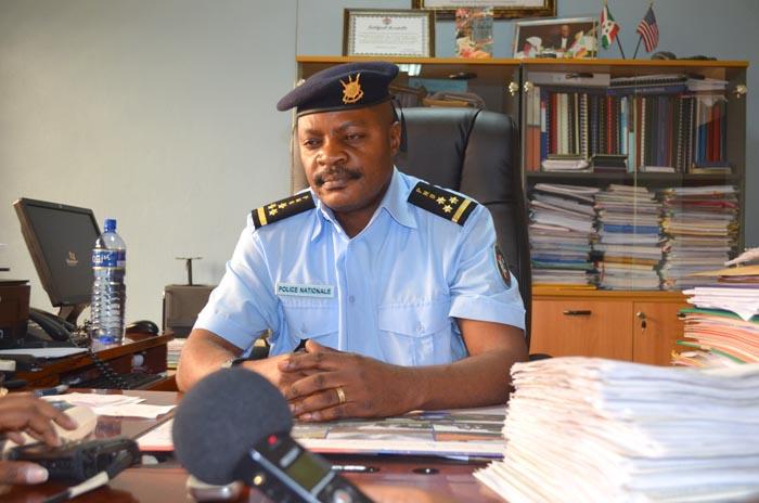 OPC1 Jimmy Hatungimana, commissaire général de la Police de l'Air, des Frontières et des Étrangers (Pafe)