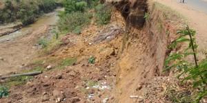 Si rien n'est fait, l'avenue Sanzu s'écroulera avec la prochaine pluie en septembre