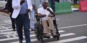 Très affaibli, Pierre Claver Mbonimpa était en chaise roulante.