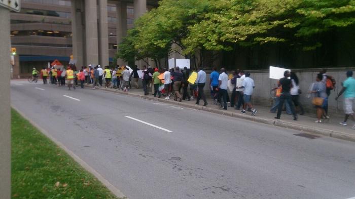 Marche manifestation des Burundais vivant au Canada