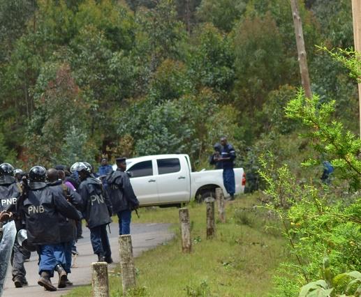 Des policiers en patrouille à Nyabiraba