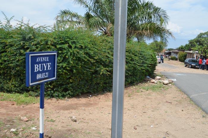 Avenue Buye sur laquelle a eu lieu le carnage le jour de la commémoration du 54ème anniversaire de l'assassinat du Prince Louis Rwagasore