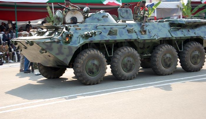 Le 11ème bataillon blindé a été délocalisé à Muzinda en province Bubanza