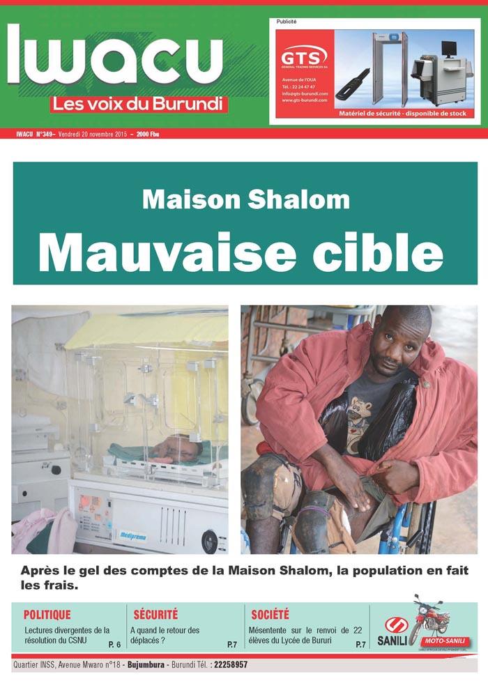 IWACU Hebdomadaire n°349