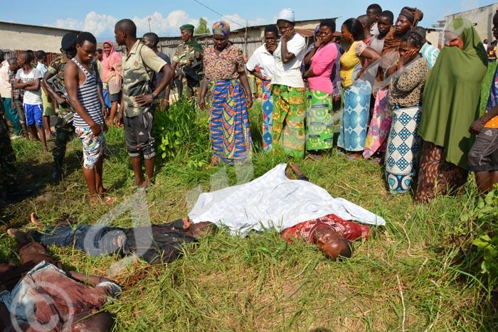 Les cadavres découverts à Mutakura ©Iwacu