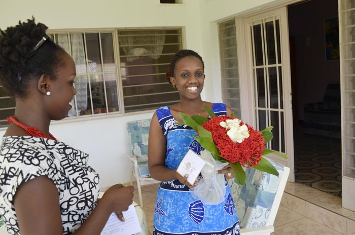 Mlle Mugisha : « Green apporte un nouveau service de vente de fleurs. »