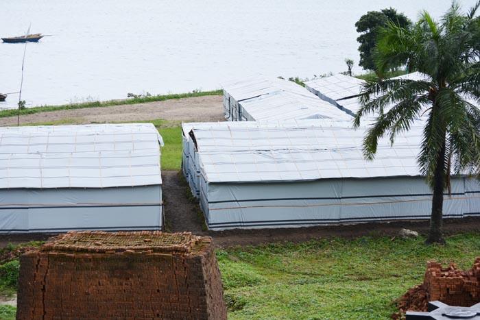 Un site en cours d'aménagement à moins de cinq mètres du lac Tanganyika, colline Gashi, commune Bugarama.
