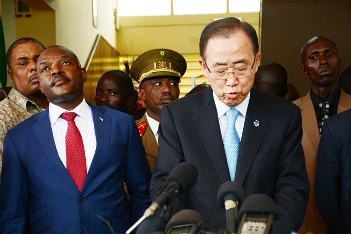 Ban Ki-Moon:«Nous devons nous concentrer sur les réponses à cette crise par des actions communes et une diplomatie préventive.»