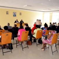 Les représentants des ONG lors de cette séance d'information