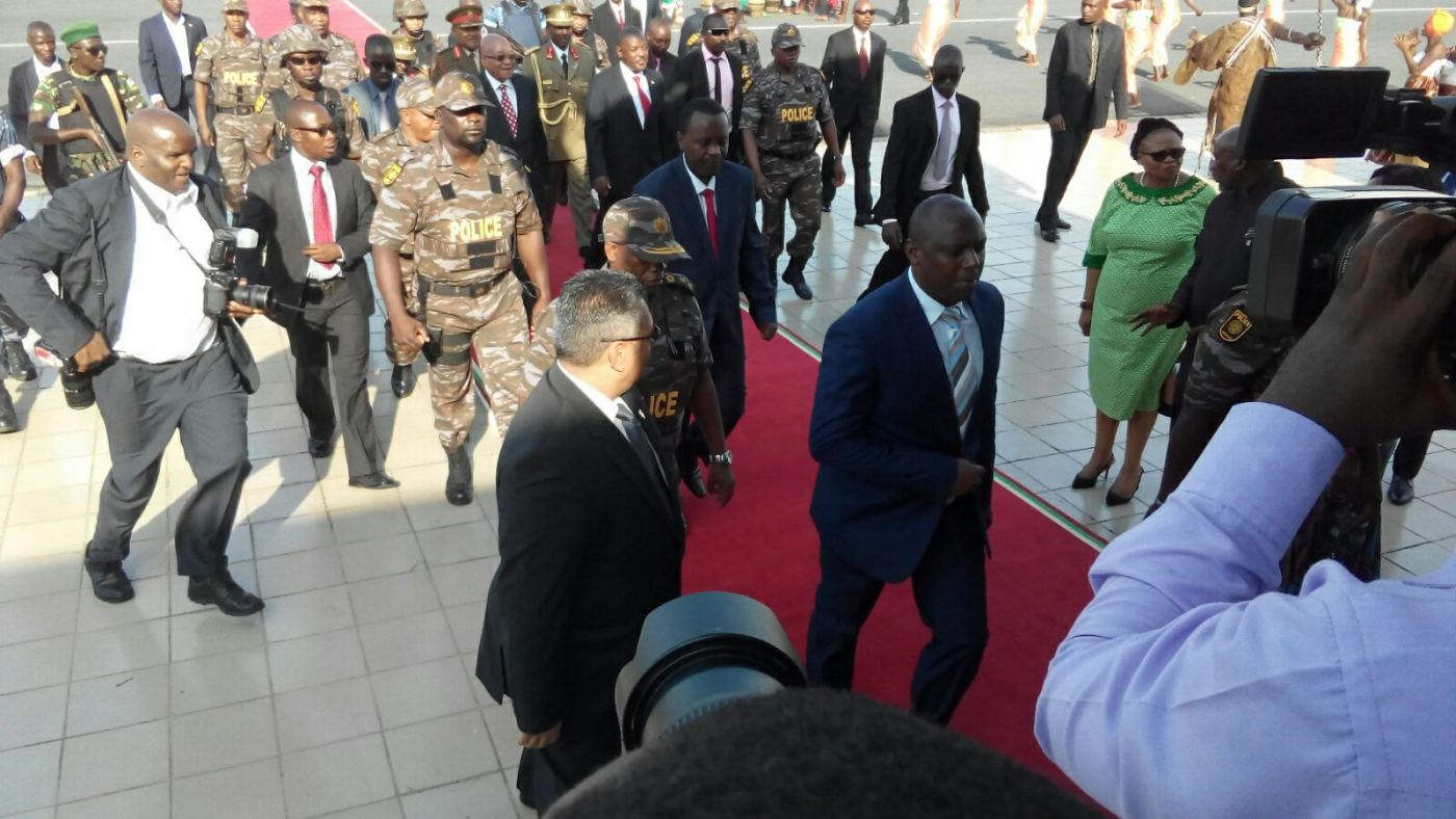Arrivée du président Zuma à l'aéroport de Bujumbura