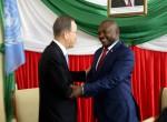Ban Ki-Moon rencontre Pierre Nkurunziza