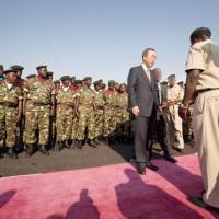 Visite au Burundi du Secretaire General des Nations Unies Ban Ki-Moon, le 9 juin 2010. © Sylvain Liechti