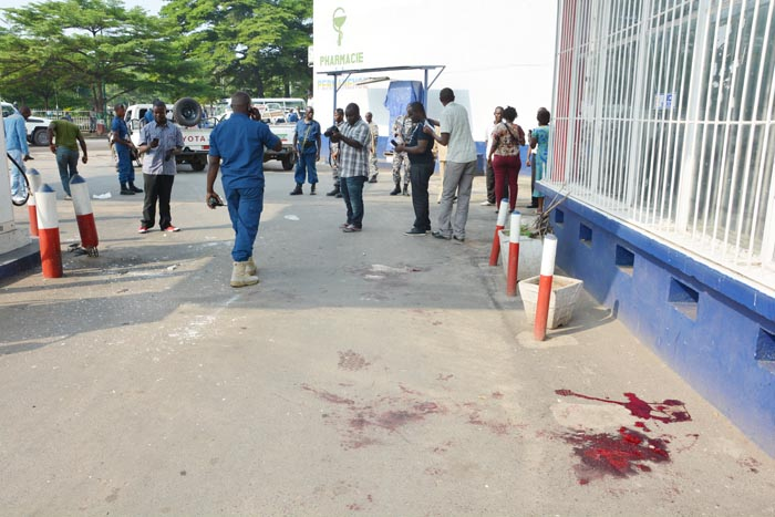Des témoins parlent d'une dizaine de blessés à la station Interpetrol