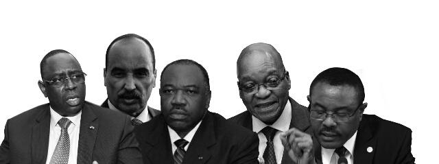 Les cinq chefs d'Etat